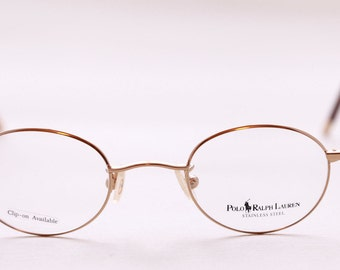 9069ffcafee4 Ralph Lauren Small Round Glasses 445 In Gold Finish