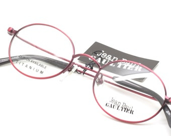 5118c940a5 Jean Paul Gaultier 0028 Vintage Oval Shaped Frames In A Stunning Red Finish