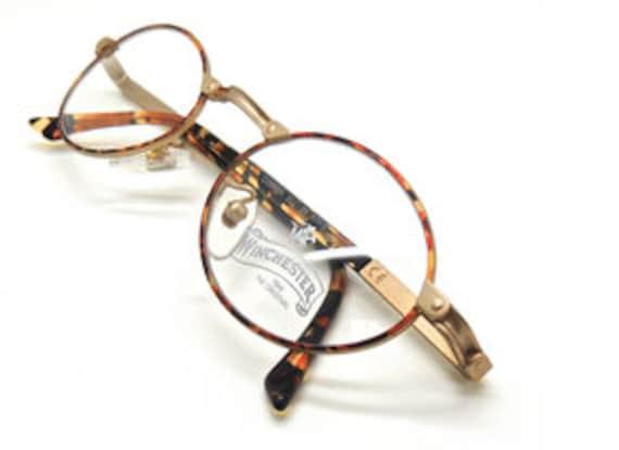 Italian /'Copper/' Oval Glasses with Turtle Colour Rims By Winchester Magic Line