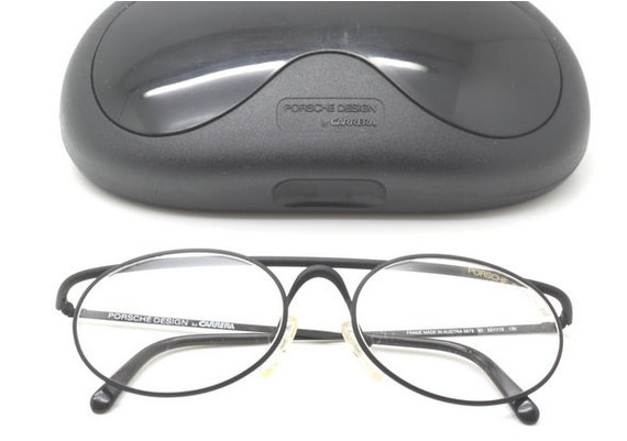 f60297c1d8 Vintage PORSCHE DESIGN Oval Style Matt Black Glasses By