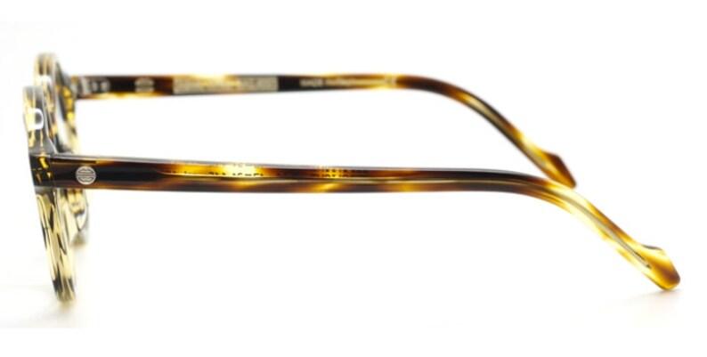 Original Vintage Circular Retro Spectacles In A Tortoiseshell Finish Acetate 47mm Model Zerolight