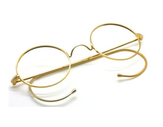 John Lennon Style Round Glasses True Round Gold Wi