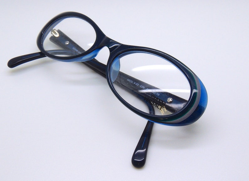 f6b439c9179b Gianni Versace V23 Green/Blue Oval Acrylic Frame | Etsy