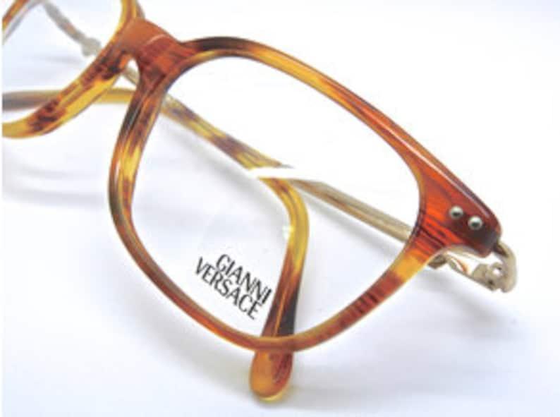 909074dc3dc9 V29 VERSACE Vintage Designer Rectangular Glasses In Light | Etsy