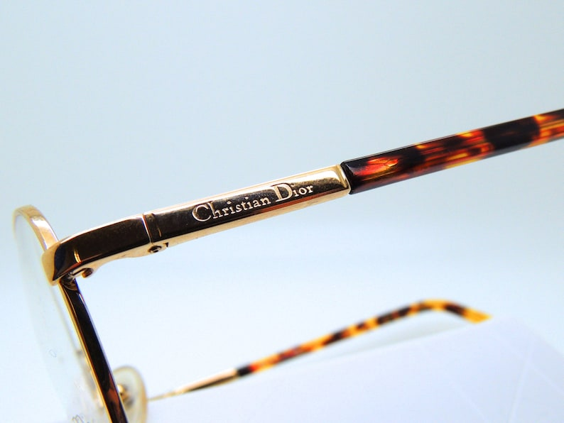 59a3b863d0c Gold Classic Style CHRISTIAN DIOR VINTAGE Glasses Frames