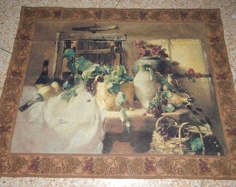Vintage French Beautiful Tapestry 0158