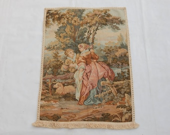 Vintage French Beautiful  Tapestry (2344)