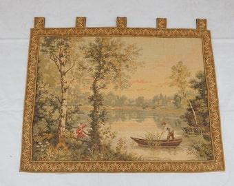 Vintage French Beautiful Tapestry 071