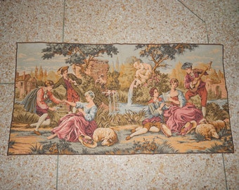 Vintage French Music Romance Beautiful Tapestry 052