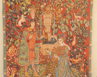 Medieval French Beautiful Tapestry (549)