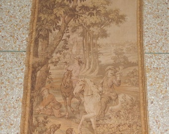 Vintage French Beautiful Tapestry 0167