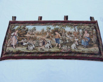 Vintage French Beautiful Tapestry 021