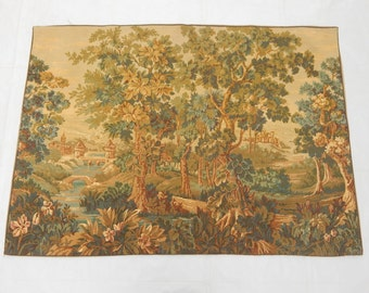 Vintage French Verdure Beautiful Tapestry 0183