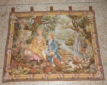 Vintage French Romance Beautiful Tapestry 0152