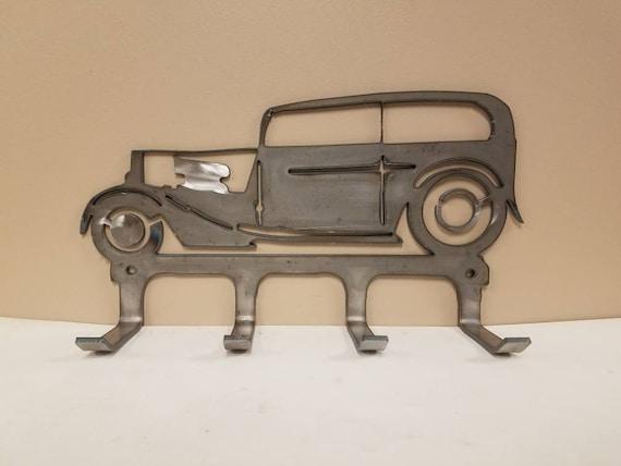 Hotrod Sedan holder Gift Metal Hanger Wall rack handmade LOW Vintage KEY HOOK
