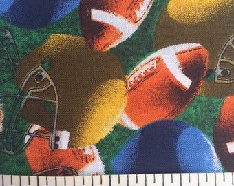 Footballs and Helmets Fat Quarters