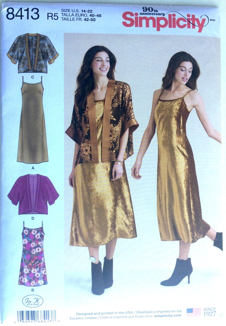 6-14 or 14-22 You Pick Simplicity 8085 Misses Wrap Dress// 2 Lengths   Sizes