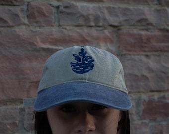 Pinecone Baseball Cap - Khaki/Blue