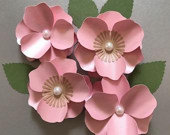 Paper flowers etsy cherry blossom paper flower paper flower template flower decor mightylinksfo
