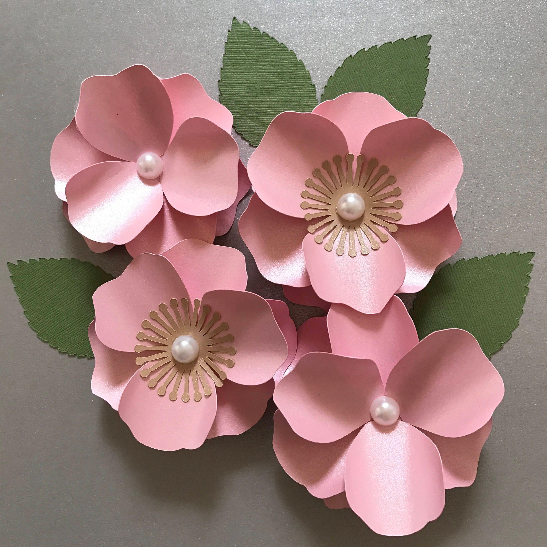 Cherry Blossom Paper Flower Paper Flower Template Flower Etsy