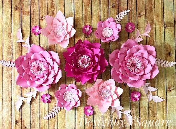 Paper flower backdrop/ Paper flower decor/ Paper flower wall / | Etsy