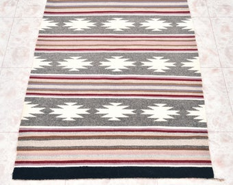 Vintage Crystal Navajo Wool Rug by Alice John 2.25 Feet x 4.13 Feet