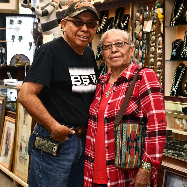 Navajo Overlaid Silver Belt Buckle Handmade Bear Paw Rug Pattern by Thomas A Begay 1050
