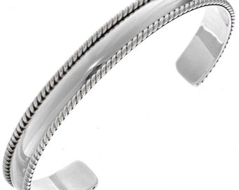 Navajo Sterling Silver Mens Cuff Handmade Bracelet