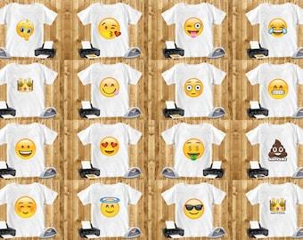 40 Pack Emoji Iron On Transfer Bundle Digital Art - INSTANT DOWNLOAD