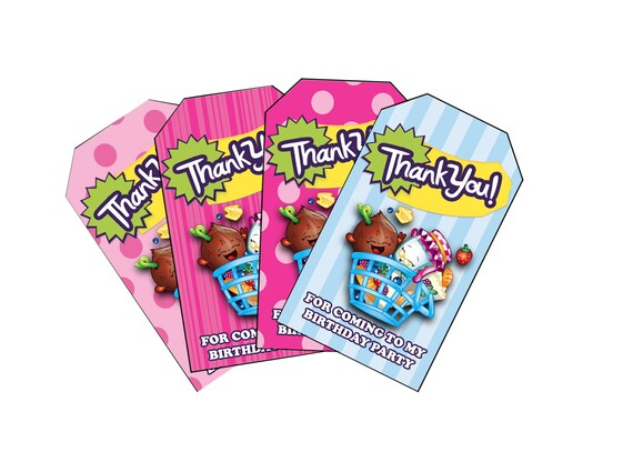 Shopkins Themed Birthday Favor Tags Download And Print