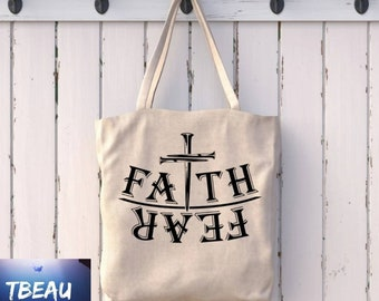Faith Can Move Mountains Travel Zippered Tote Canvas Tote Sunday School Reading Bag Carry On Bag Teacher Gifts Bible Study