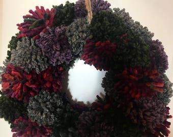 Mossy Pom Pom Wreath