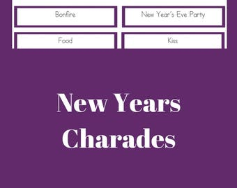 new years charades game party game printable pdf