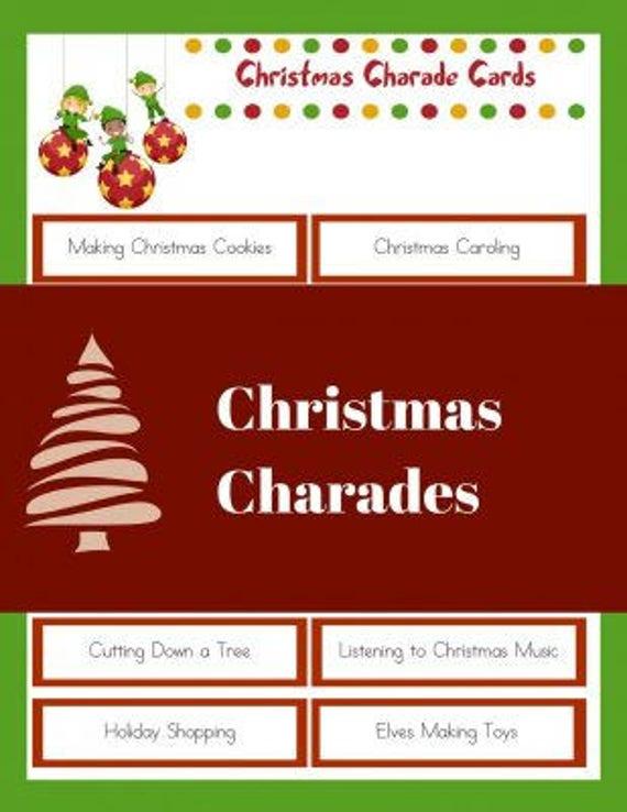 Christmas Charades.Christmas Charades Game Adults And Children Printable Pdf