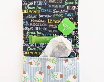 zero waste small bag Tea travel pouch travel gift herb pouch small pouch wallet tea wallet teacher gift