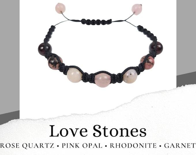 Love Stones Macrame Bracelet