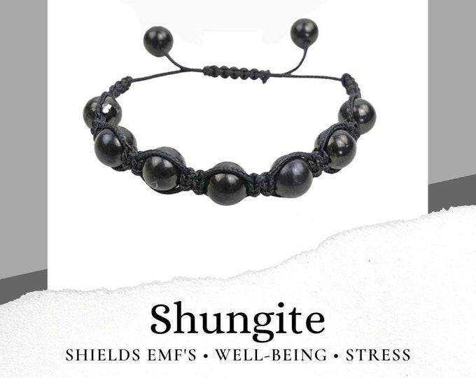 Shungite Black Macrame Bracelet