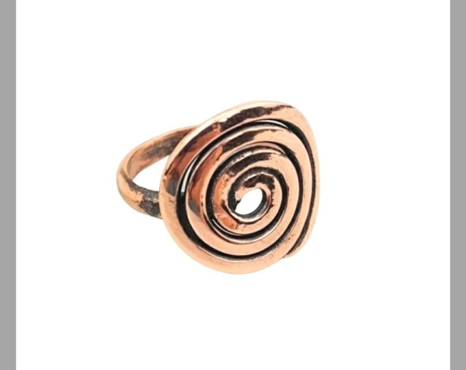 The Spiral Copper Ring