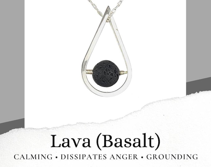 Lava Basalt Sterling Silver Necklace