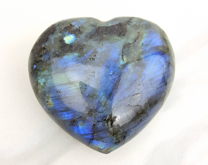 Labradorite Holistic Healing Crystal Stone Heart Altar Shrine Home Decor Paperweight