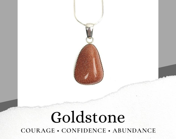 Goldstone Sterling Silver .925 Necklace