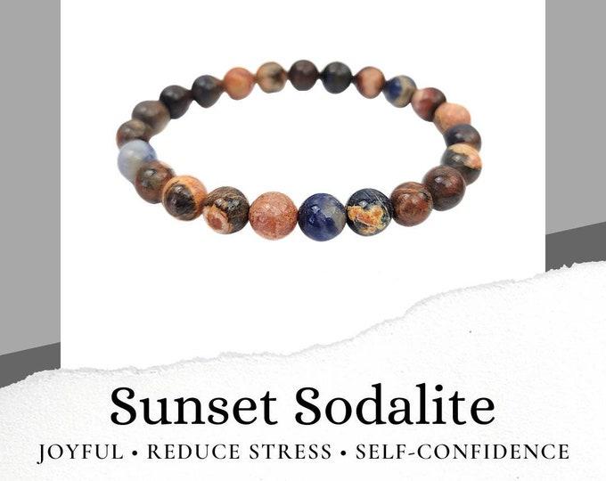 Sunset Sodalite Bracelet