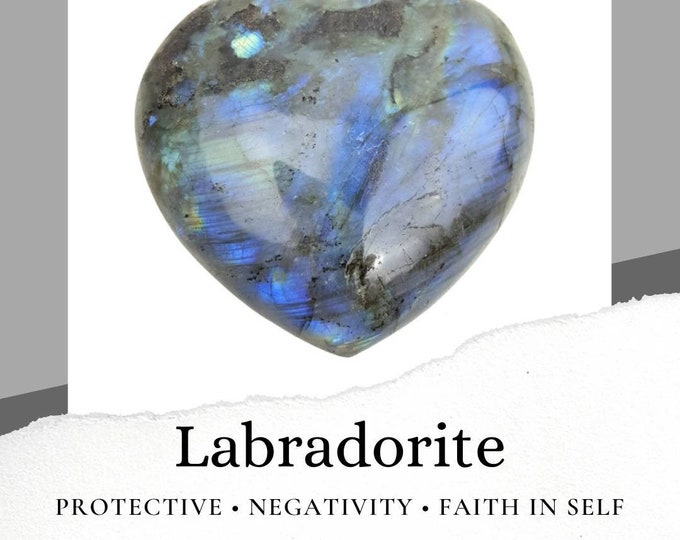 Labradorite Heart Crystal Stone