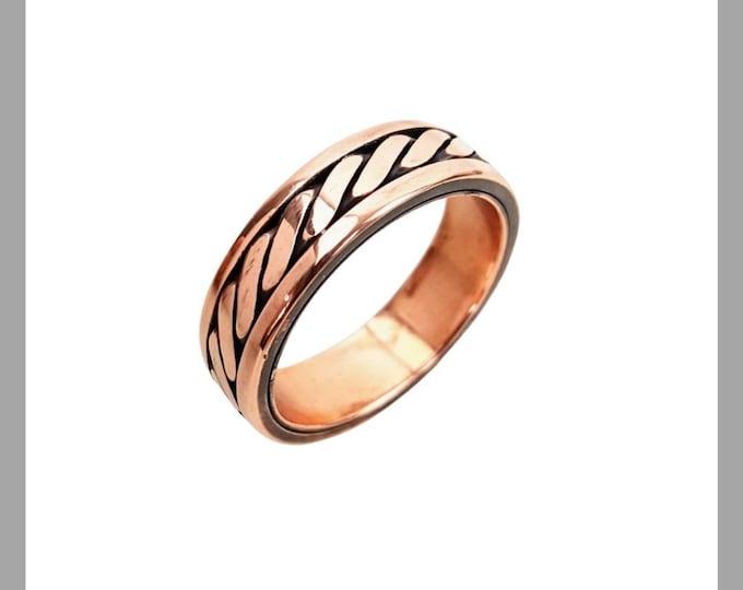 Mens Copper Twist Ring