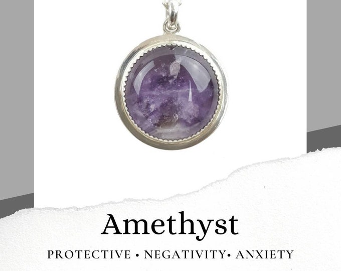 Amethyst Sterling Silver .925 Necklace