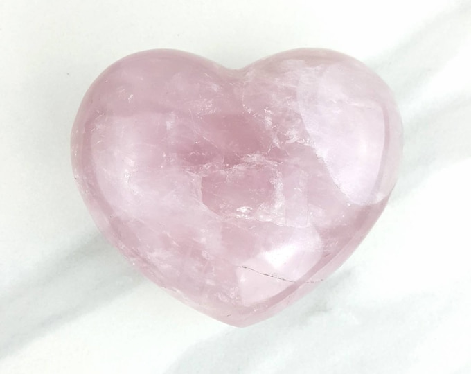 Rose Quartz Pink Heart Crystal
