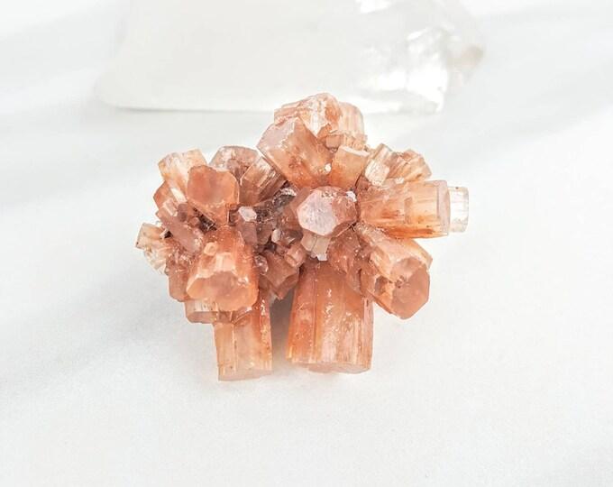 Aragonite Orange Crystal Stone Cluster