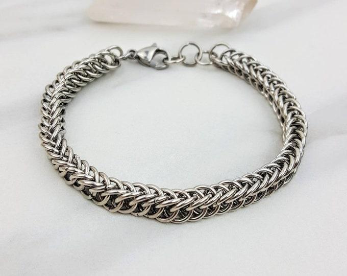 Half Persian 4 in 1 Chainmail Stainless Steel Handmade Men's Bracelet