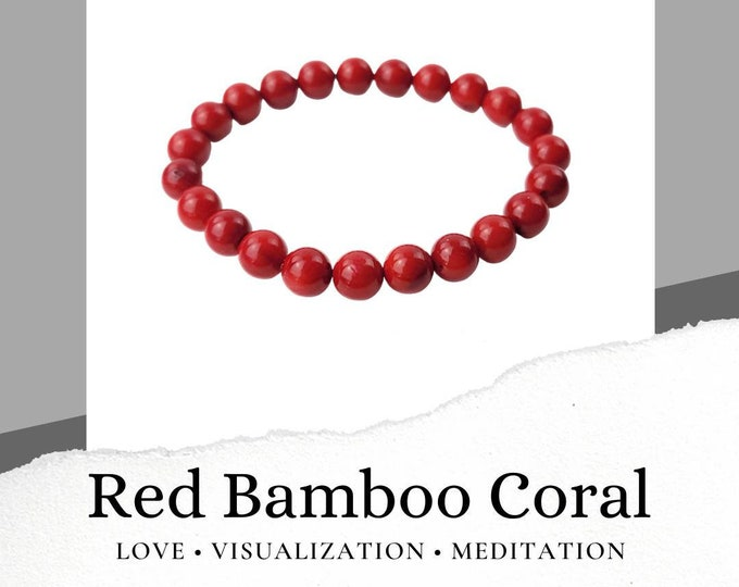 Red Bamboo Coral Bracelet