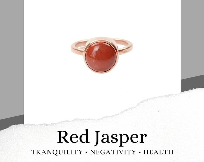 Red Jasper Copper Ring